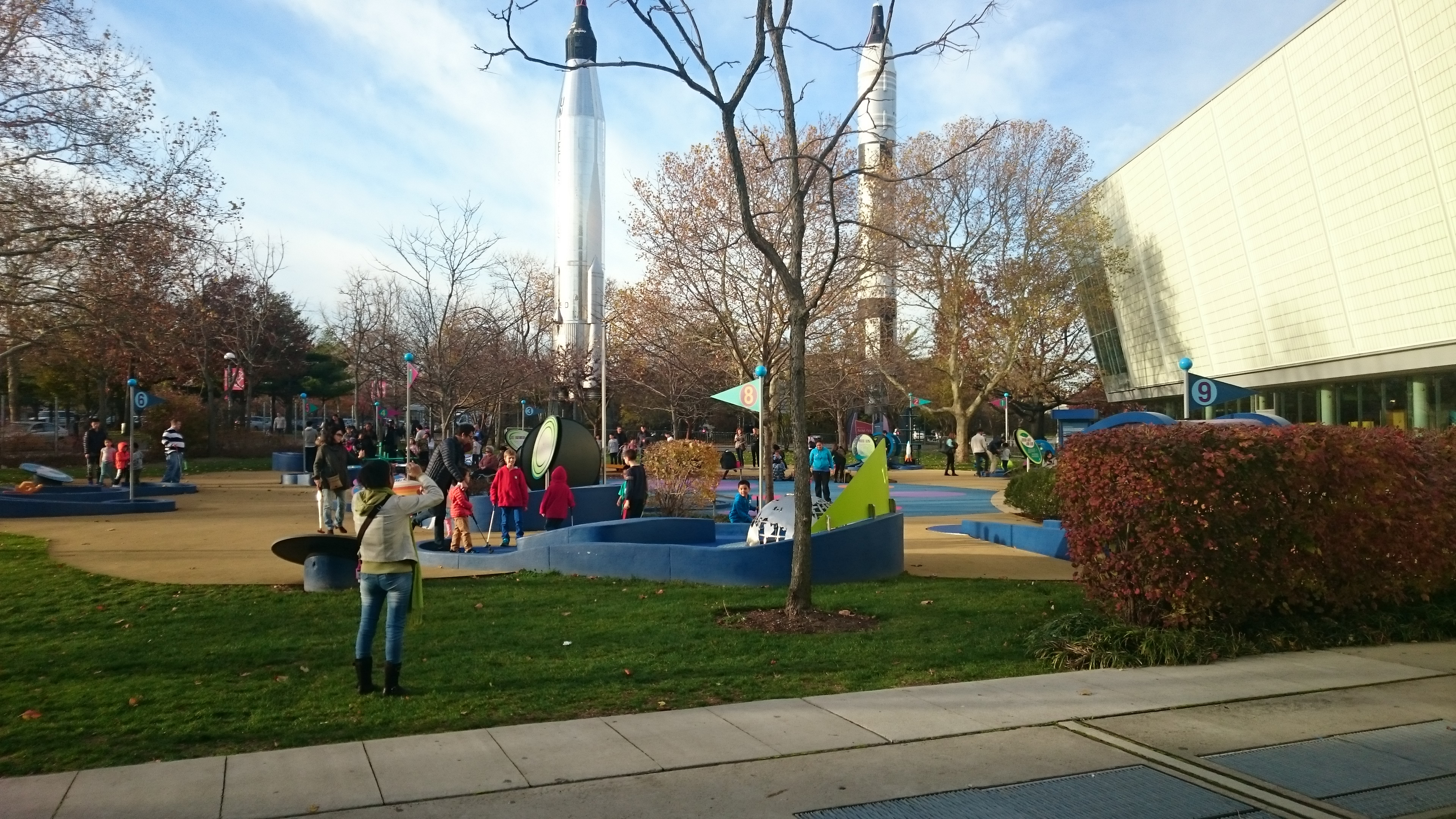 science themed mini golf at the New York Hall of Science