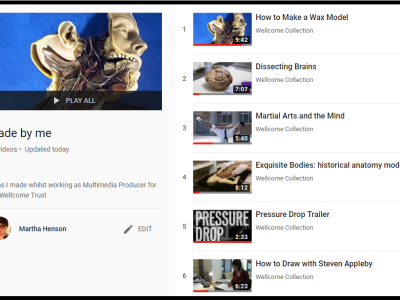 Screenshot of a YouTube Playlist of my films