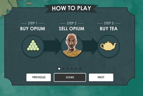 High Tea instructions: Buy opium, sell opium, buy tae
