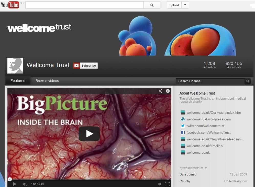 Wellcome Trust YouTube Channel
