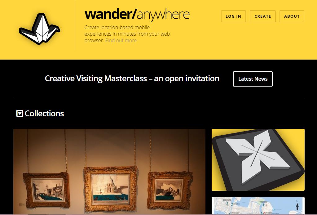 Wander Anywhere website screenshot